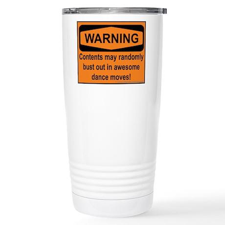 Warning Stainless Steel Travel Mug