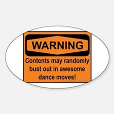 Warning Sticker (Oval)