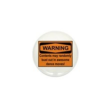 Warning Mini Button (10 pack)