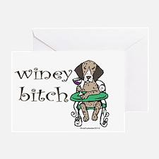 Winey German Shorthair Pointer Greeting Card