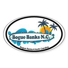 Bogue Banks NC - Surf Design Decal