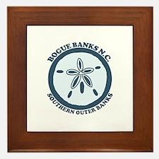 Bogue Banks NC - Sand Dollar Design Framed Tile
