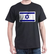 Israel Flag Black T-Shirt