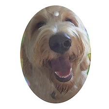 Dreamy Dog Oval Ornament