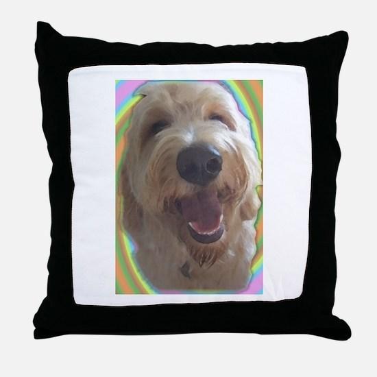 Dreamy Dog Throw Pillow