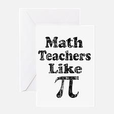 Vintage Math Teachers like Pi Greeting Card