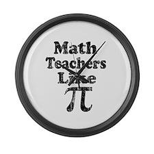 Vintage Math Teachers like Pi Large Wall Clock