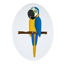 Blue and Gold Macaw Ornament (Oval)