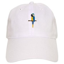 Blue and Gold Macaw Baseball Cap