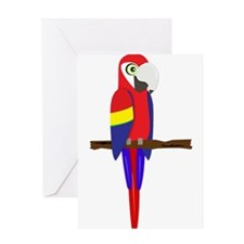 Green Wing Macaw Greeting Card