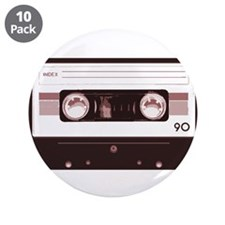 "Cassette Tape 3.5"" Button (10 pack)"
