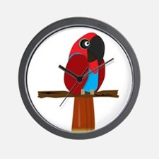 Eclectus Female Wall Clock