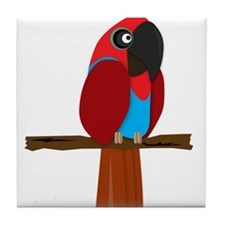 Eclectus Female Tile Coaster