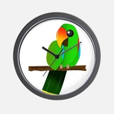Eclectus Male Wall Clock