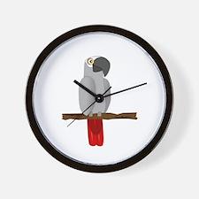 African Grey Wall Clock