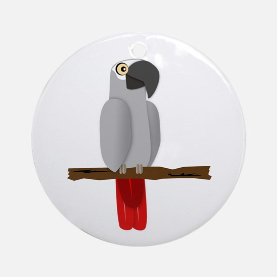 African Grey Ornament (Round)