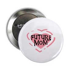 "Pink Heart Future Mom 2.25"" Button"