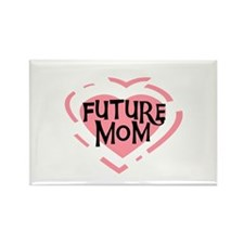 Pink Heart Future Mom Rectangle Magnet (10 pack)