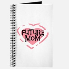 Pink Heart Future Mom Journal