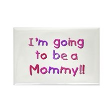 Pink Going to be a Mommy Rectangle Magnet (10 pack