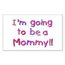 Pink Going to be a Mommy Decal