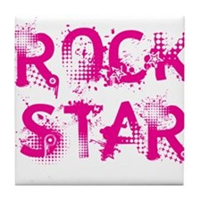 Rock Star Tile Coaster