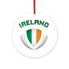 Soccer Crest IRELAND Ornament (Round)