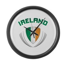 Soccer Crest IRELAND Large Wall Clock