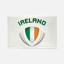 Soccer Crest IRELAND Rectangle Magnet