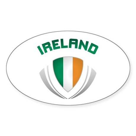 Soccer Crest IRELAND Sticker (Oval)