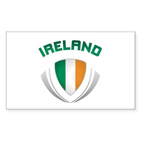 Soccer Crest IRELAND Sticker (Rectangle)