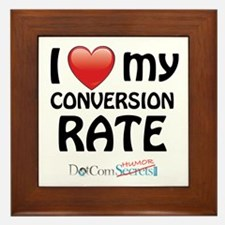I Love My Conversion Rate Framed Tile