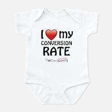 I Love My Conversion Rate Infant Bodysuit