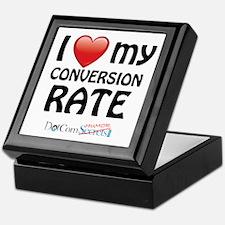 I Love My Conversion Rate Keepsake Box