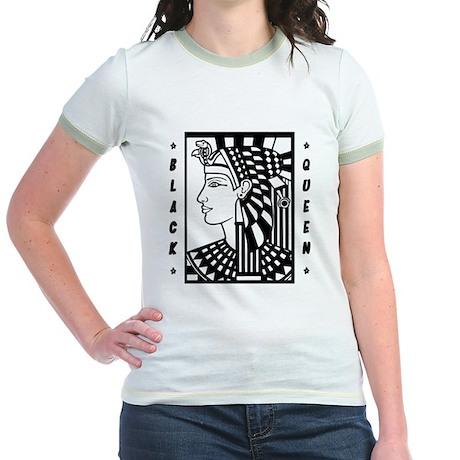 """Black Queen"" Jr. Ringer T-Shirt (Other Colors)"