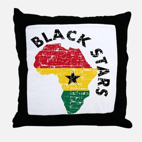 Ghana Black stars Throw Pillow