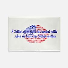 Kisses Goodbye Rectangle Magnet (10 pack)