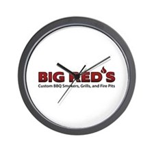 Big Red's BBQ Smokers Wall Clock