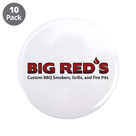 """Big Red's BBQ Smokers 3.5"""" Button (10 pack)"""