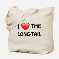 I Love The Long Tail Tote Bag