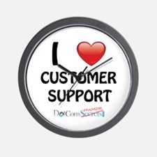 I Love Customer Support Wall Clock
