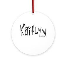Kaitlyn Ornament (Round)