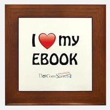 I Love My Ebook Framed Tile