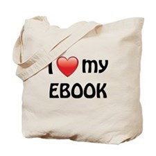 I Love My Ebook Tote Bag
