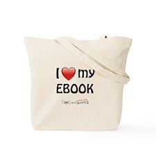 I Love My Ebook Tote Bag