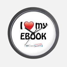 I Love My Ebook Wall Clock