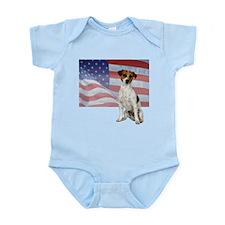 Patriotic Jack Russell Terrier Infant Bodysuit