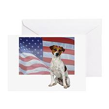 Patriotic Jack Russell Terrier Greeting Card