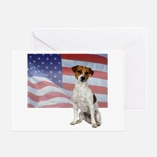 Patriotic Jack Russell Terrier Greeting Card