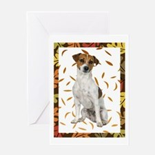 Autumn Jack Russell Terrier Greeting Card
